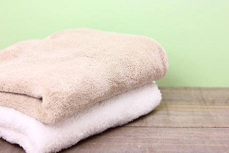 汗を拭くタオル