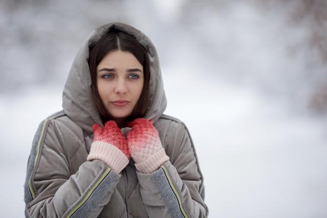冷え性の女性